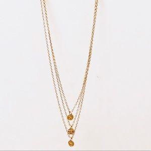 Gorjana triple disc layered necklace